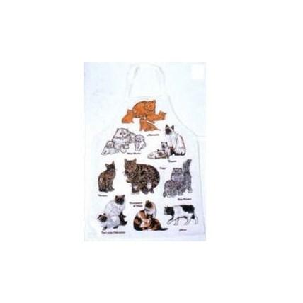 Plastförkläde kattmotiv