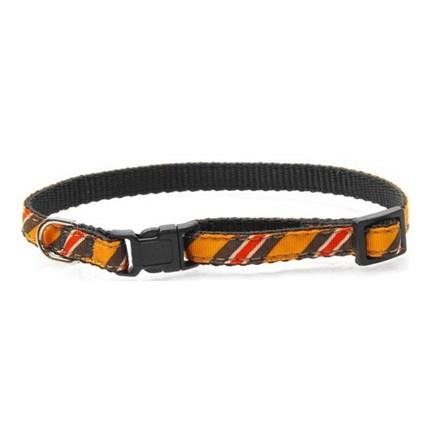 Katthalsband Orange Diagonal Stripes