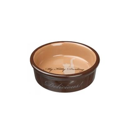 Keramikskål My Kitty Darling brun