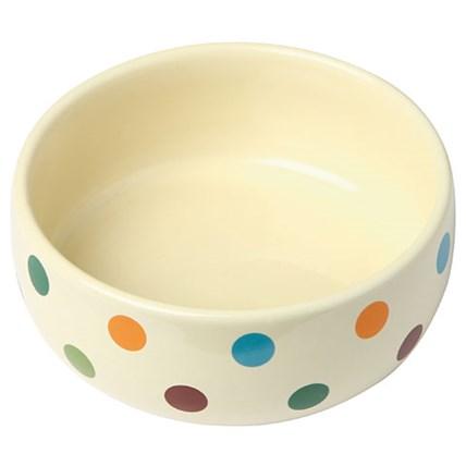 Keramik skål med glada prickar