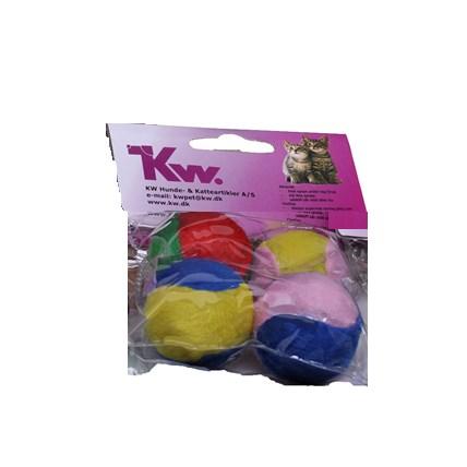 Kattleksaker filtade bollar 4-pack