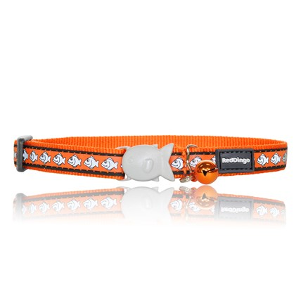 Katthalsband fashion fisk reflex orange