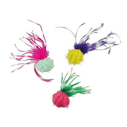 Kattleksak Ball with Long Feather