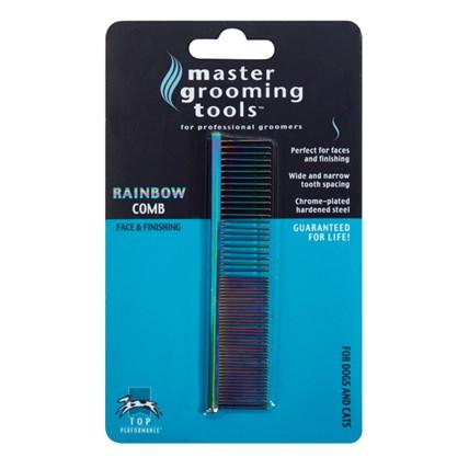 Master Grooming Tools Rainbow kam ansikte