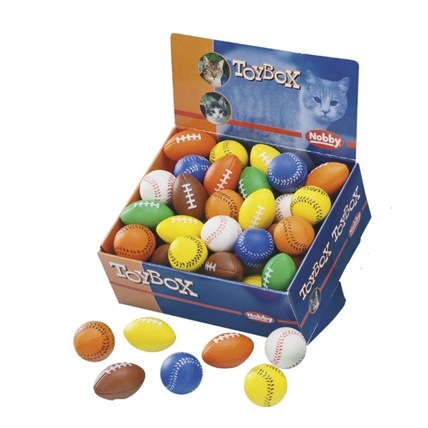 Kattleksaker baseball/football Mix
