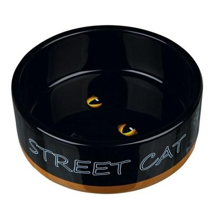 Matskål katt Street Cat Gul