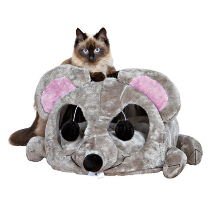 En stor rolig mus som kattkoja.