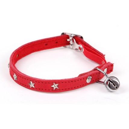 Katthalsband röd stjärna
