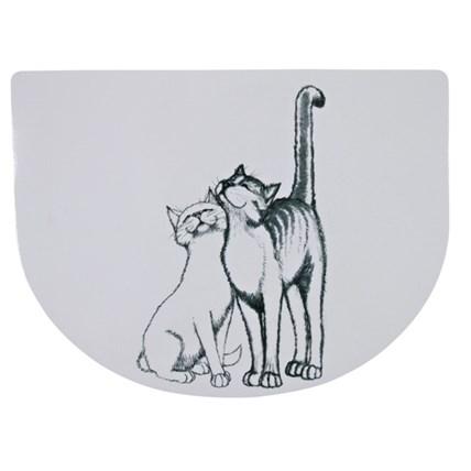Matskålsunderlägg Katter Sv/vit