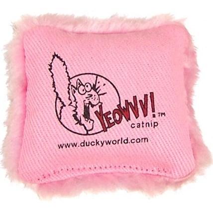 Kattleksak yeowww Catnip kudde Rosa