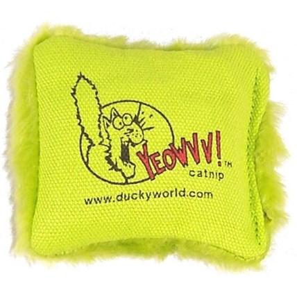 Kattleksak Yeowww Catnip kudde Grön