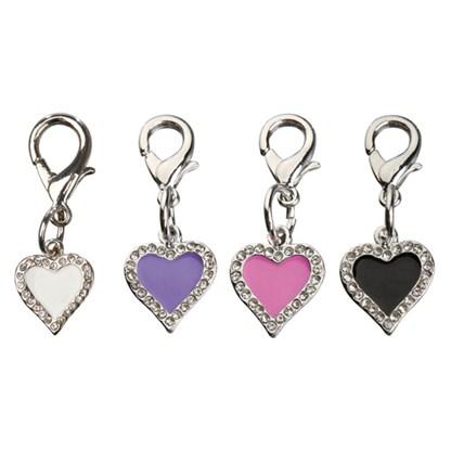 Smyckeshänge strass hjärta, Lila