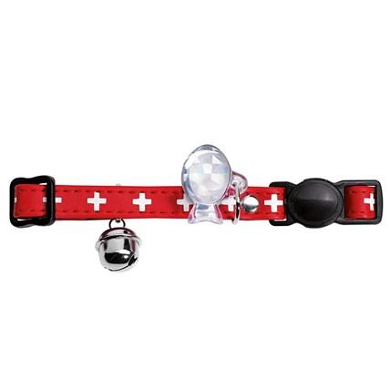 Katthalsband Swiss Röd