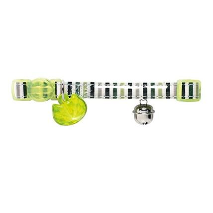 Katthalsband Glossy Stripes Grön