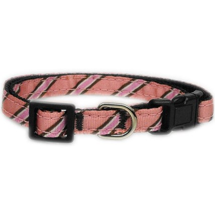 Katthalsband Pink Diagonal Stripe