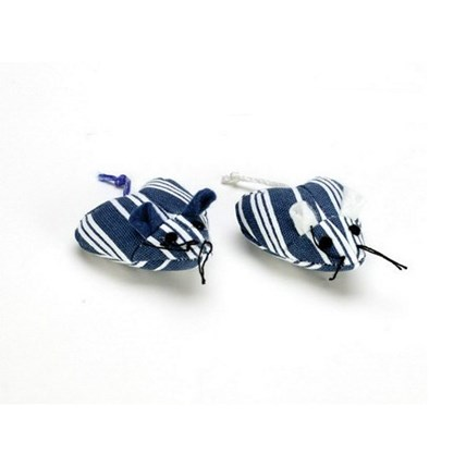 Kattleksak Hjärtmus Navy Stripe 2-pack, Brun