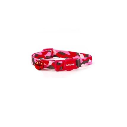 Katthalsband Ancol camouflage Röd