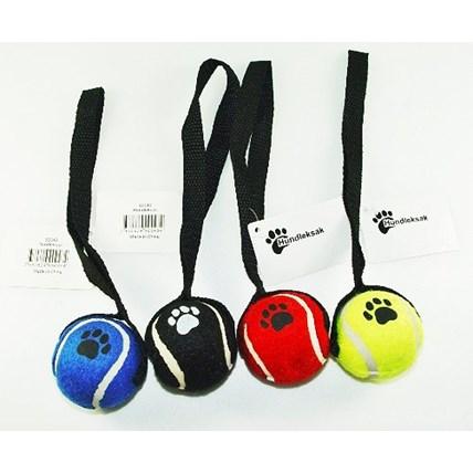Mini tennisboll med rep mixade färger