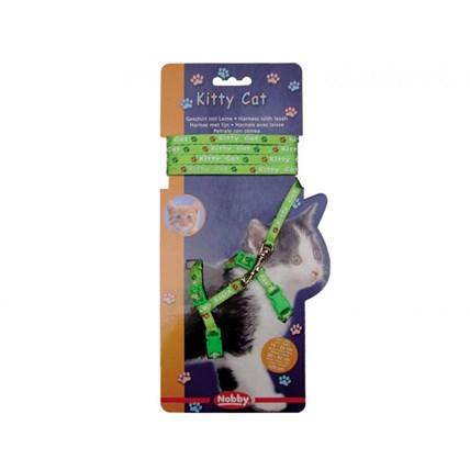 Kattsele Nylon KittyCat Grön