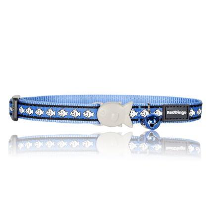 Halsband fashion fisk reflex ljusblå