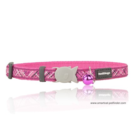 Katthalsband Flanno Hot Pink