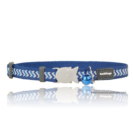 Katthalsband Ziggy reflex mörkblå
