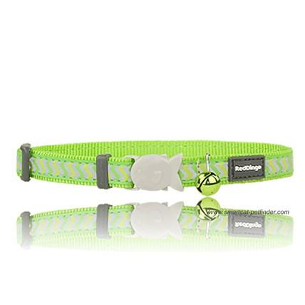 Katthalsband Ziggy reflex ljusgrön