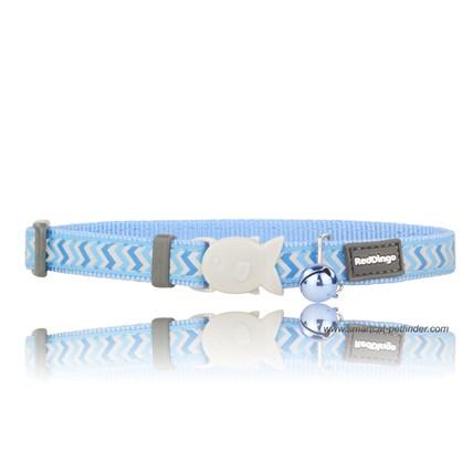 Katthalsband Ziggy reflex ljusblå