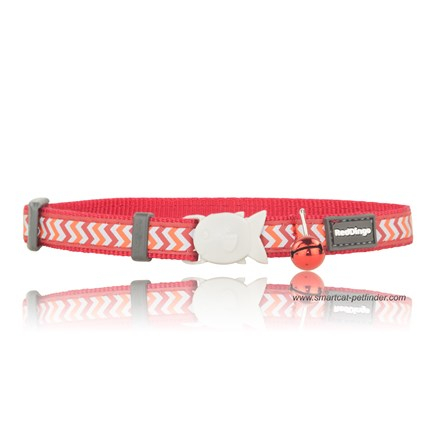 Katthalsband Ziggy reflex röd