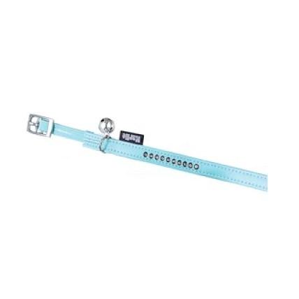 Katthalsband Montecarlo blå med strass