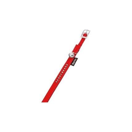 Katthalsband Montecarlo röd med strass