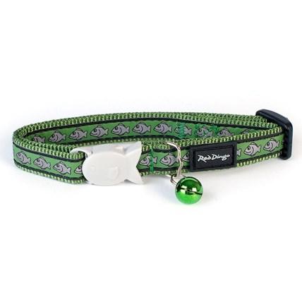 Katthalsband RedDingo fashion fisk reflex mörkgrön