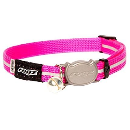 Katthalsband Rogz Alley cat rosa XS