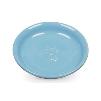 Matskål katt blå Flat