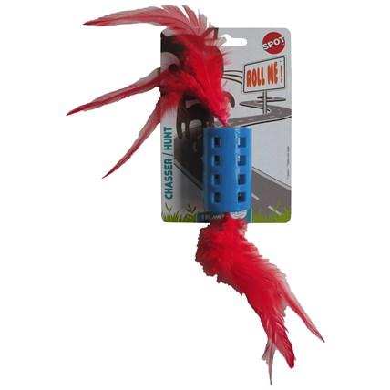 Kattleksak Roll med fjädrar och pingla 470737