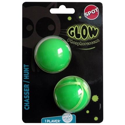 Kattleksak självlysande grön boll 2-pack 470769