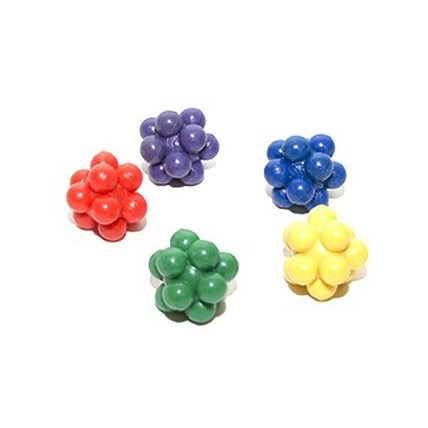 Kattleksak Gummiboll Atomic i mixade färger