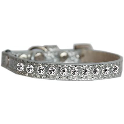 Katthalsband Strass Glittrigt Silver