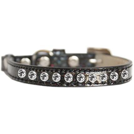 Katthalsband strass glittrig svart