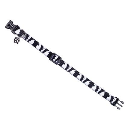 Katthalsband Tiger Vit/svart