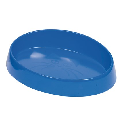 Kattmatskål Melamin Oval Blå