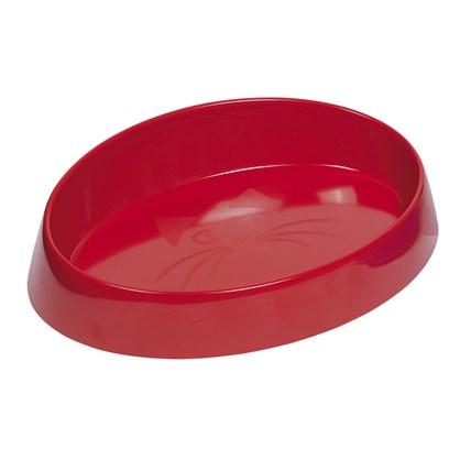Kattmatskål Melamin Oval Röd