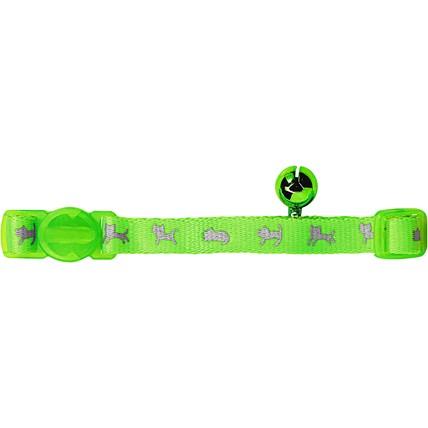 Katthalsband Neongrön Reflex