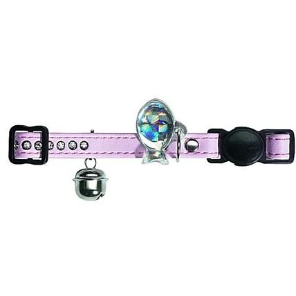Katthalsband Luxus Ljus Rosa ® strass