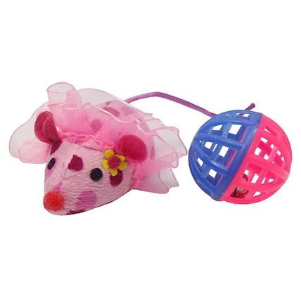 Kattleksaker klädd mus och boll