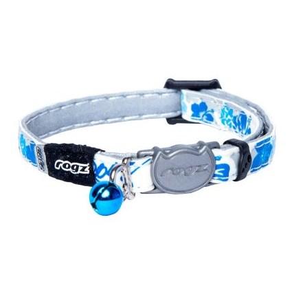 Katthalsband Glowcat Blue Floral XS