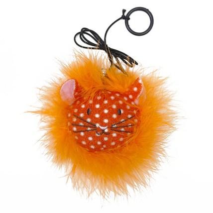 Kattleksak Feather Cat with Elastic Teaser Orange