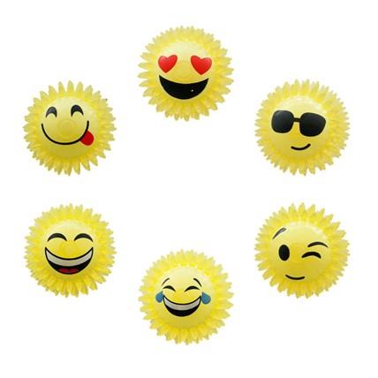 Hundleksak Boll emoji m mjuka piggar. Pipljud. 7 cm