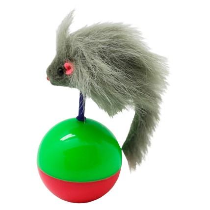 Kattleksak boll med Balanserande grå mus