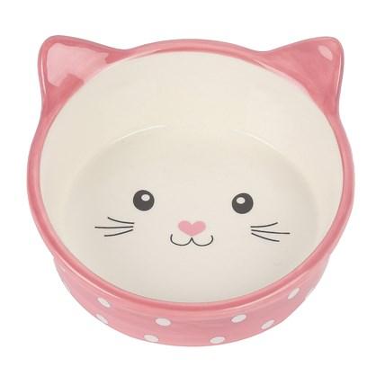 Kattmatskål Polka Happy Pet Rosa